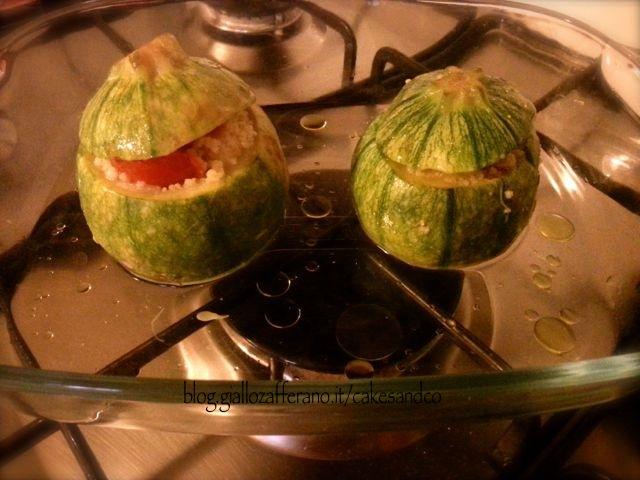 Zucchine ripiene couscous feta e olive