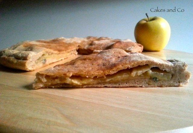 Pizza mele e gorgonzola