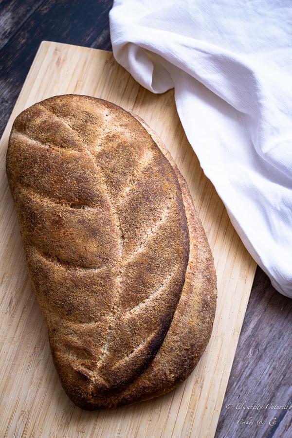 Pane semi integrale con lievito madre