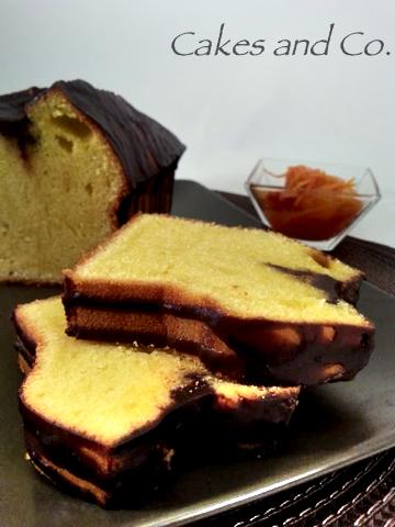Plumcakes all'arancia con ganache al cioccolato e composta d'arance