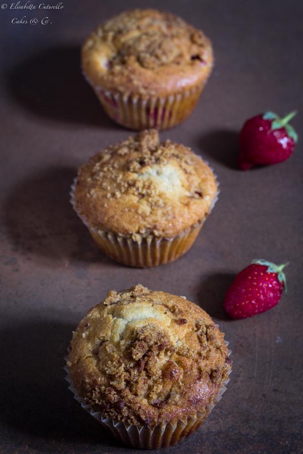 muffins fragole e cioccolato bianco