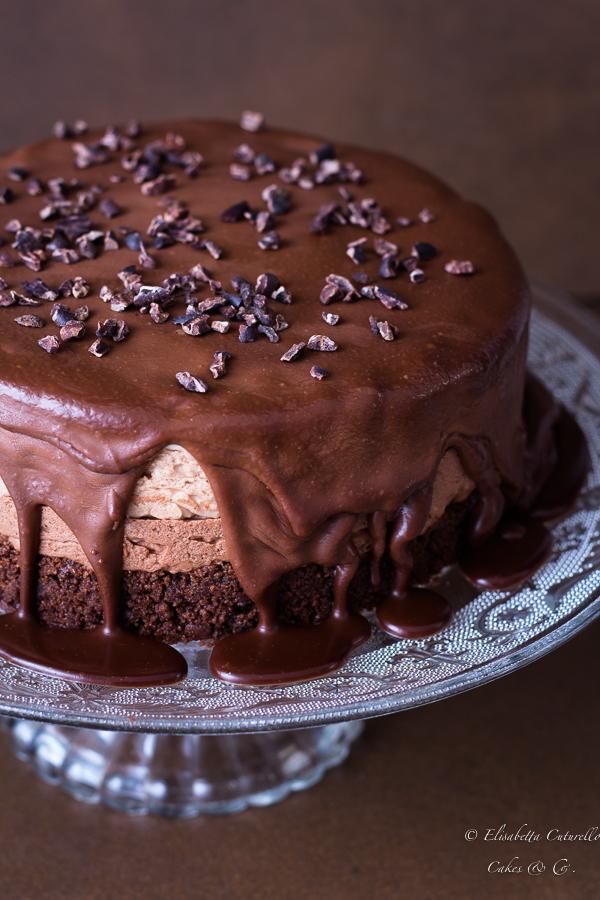 Cheesecake tris di cioccolato
