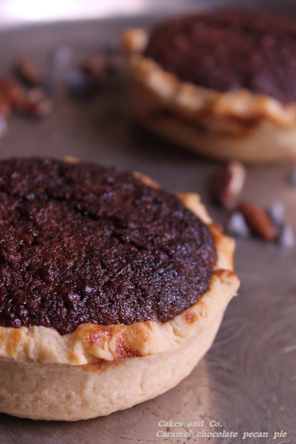 caramel chocolate pecan piesIMG_0057