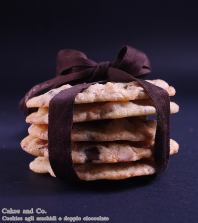 Cookies agli arachidi e doppio cioccolato