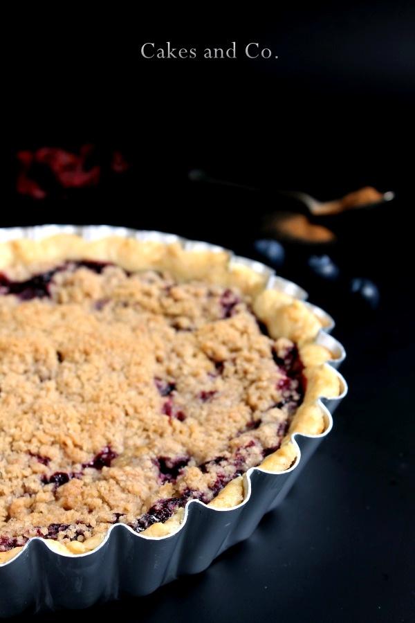 Blueberry Pie con crumble alla cannella (torta ai mirtilli)