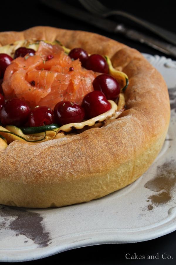 Brioche-ai-formaggi-salmone-e-ciliegie 5