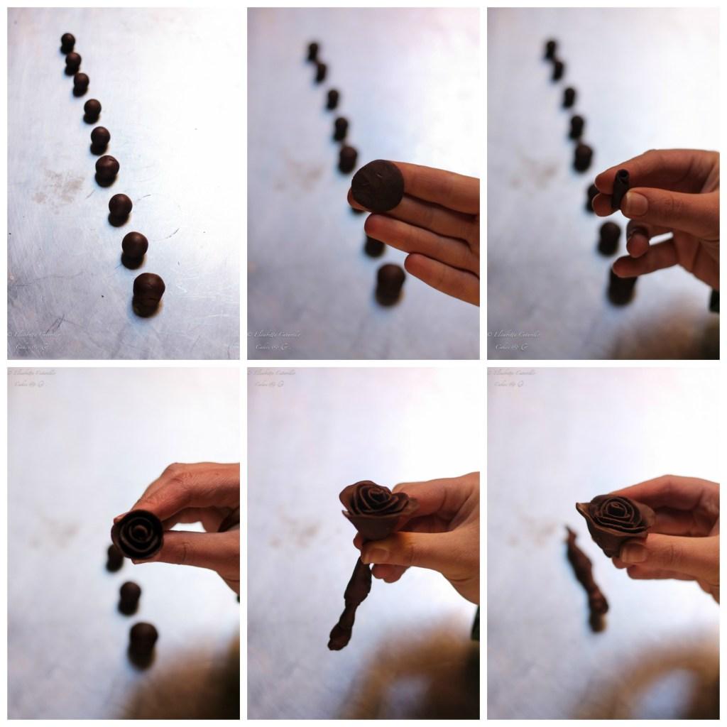 Il cioccolato plastico l'alternativa alla pasta di zucchero, creazione rose tipo due