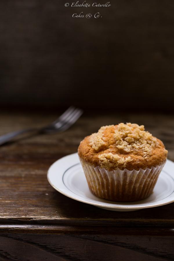 Muffins alla panna e mele profìumati allo zenzero e cannella e con copertura croccante