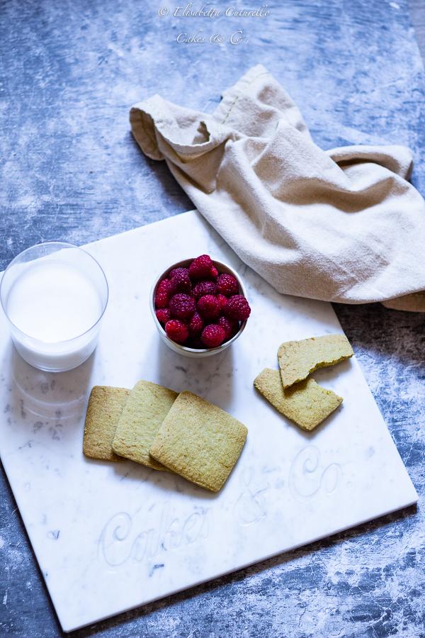 Biscotti al tè matcha e lime