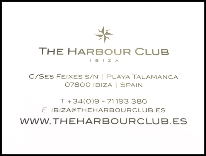 Business card harbour Club Ibiza