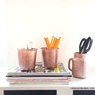 DIY: Copper colored mason jars and weck jars