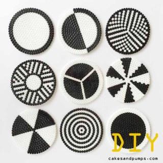Coasters all made of hama ironing beads
