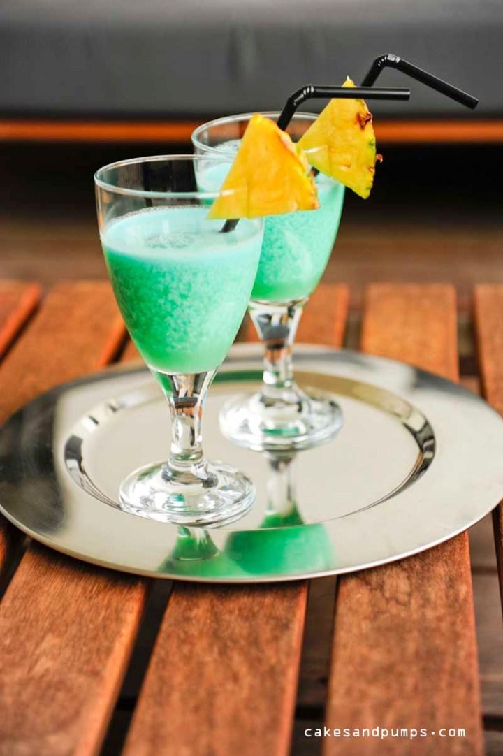 Cocktail Friday met een blue Hawaiian cocktail