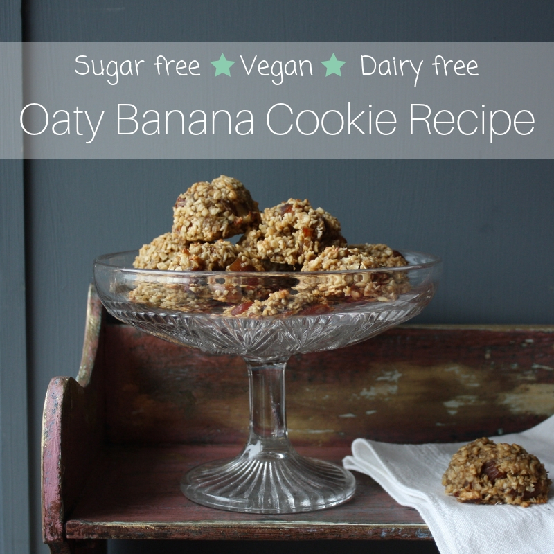 Sugar-free Oaty Banana Cookie Recipe