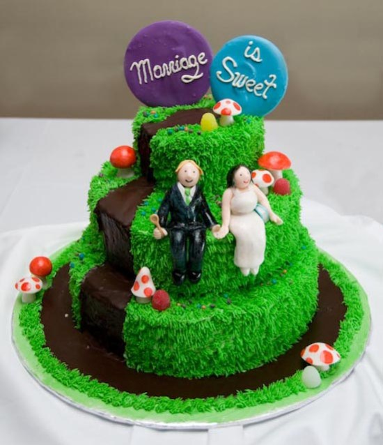 Charlie and the Chocolate Factory wedding cake