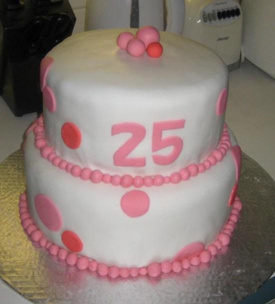 Pink Polka-Dot Cake