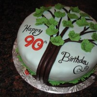 Happy 90th Birthday - A Family Tree Cake!