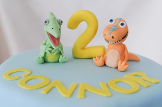 Dinosaur Train Birthday Cake Close Up
