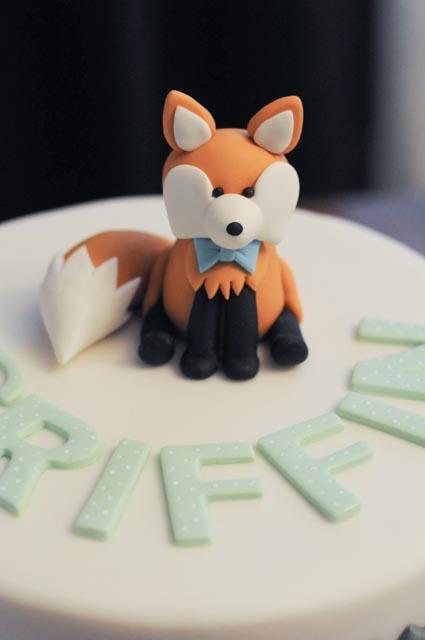 Chevron Fox Birthday Cake