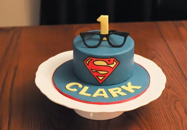 Superman Clark Kent Cake
