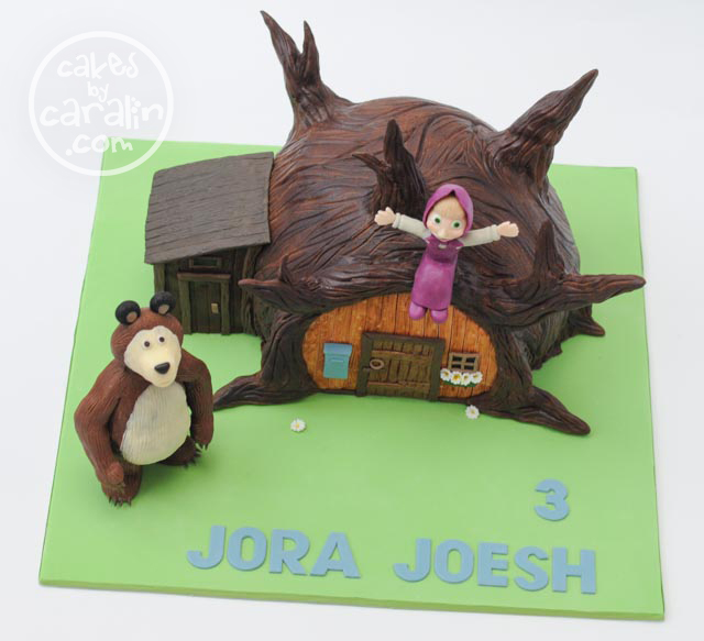Masha and the Bear Sculpted Cake