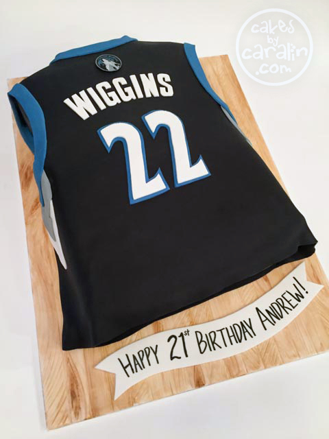 NBA replica jersey cake for Andrew Wiggins