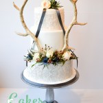 Antlers Scottish Wedding Roses Thistles Foliage