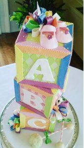 Baby shower cake portland or, pastel baby shower cake