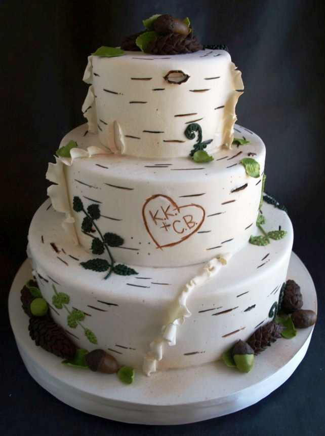 Rustic Baby Shower Cake