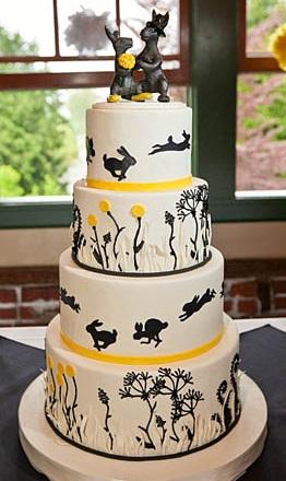 Nature Wedding Cake Fondant Portland Or Tiered
