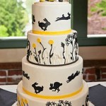 Nature wedding cake, fondant wedding cake portland or, portland or, tiered wedding cake, rabbit wedding cake