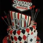 Casino Vegas Topsy Turvy Birthday Cake Portland Oregon