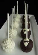 bride groom cake pops, wedding cake pops, bridal shower cake pops