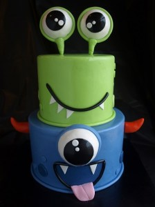 child birthday cake, little monster cake, cute birthday cake portland
