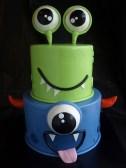 child birthday cake, little monster cake, cute birthday cake portland
