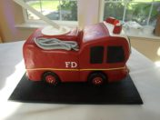 Fire Truck Cake, custom grooms cake, job grooms cake