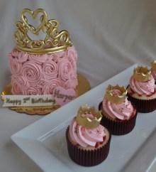 kids birthday cupcakes, girl birthday cupcakes, princess cupcakes, portland or, tiara cake, crown cupcakes