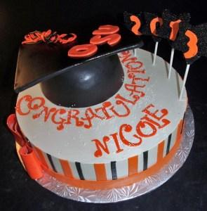 Grad cake portland, mortar board cake OSU