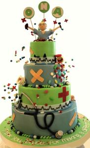 Nurse graduation cake, pharmacist cake