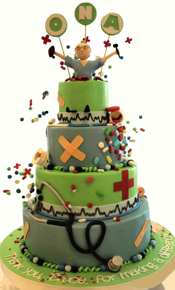 Nurse graduation cake, pharmacist cake