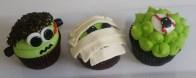 kids cupcakes, mummy cupcakes, frankenstein cupcakes, eyeball cupcake