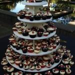 flower cupcakes, Oregon Garden cupcakes