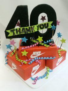 Fondant cake portland, corporate event cake, shoe box cake