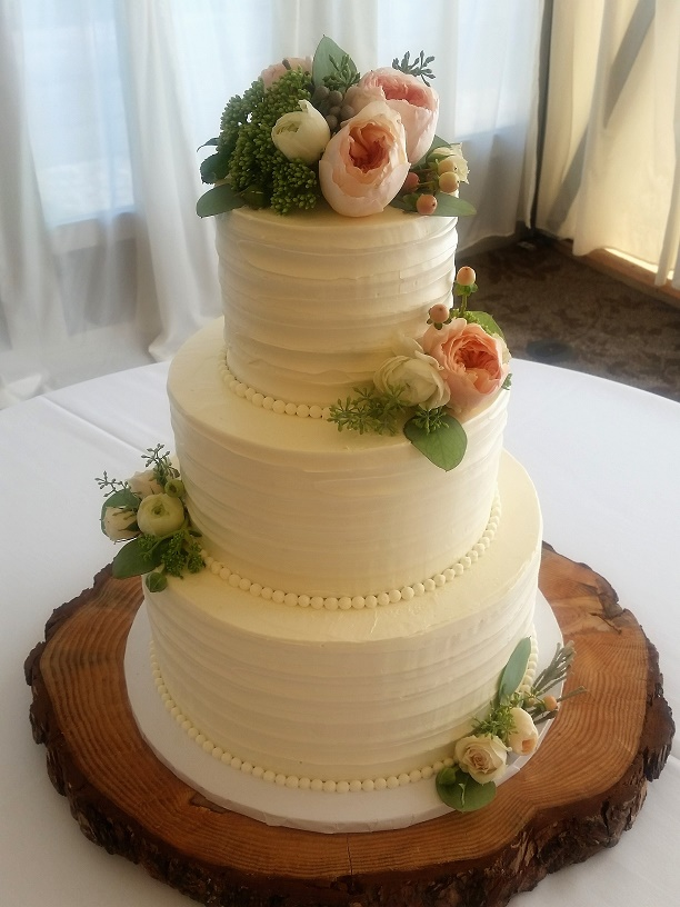 Buttercream Wedding Cake Portland Simple