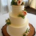 Simple buttercream wedding cake textured buttercream