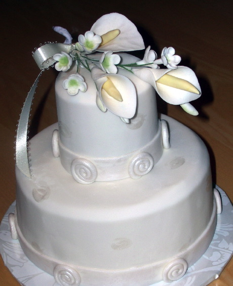 Calla Lily Wedding Cake by CakeSuite  serving Connecticut and New York Calla Lily Wedding Cake