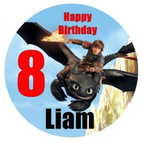 How to train your dragon edible cake topper
