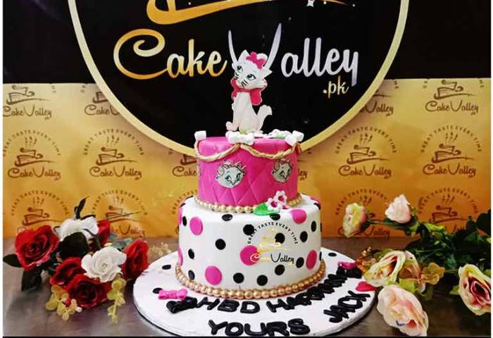 Cat Birthday Cake For Girls Or Baby Girls Birthday Cake Online
