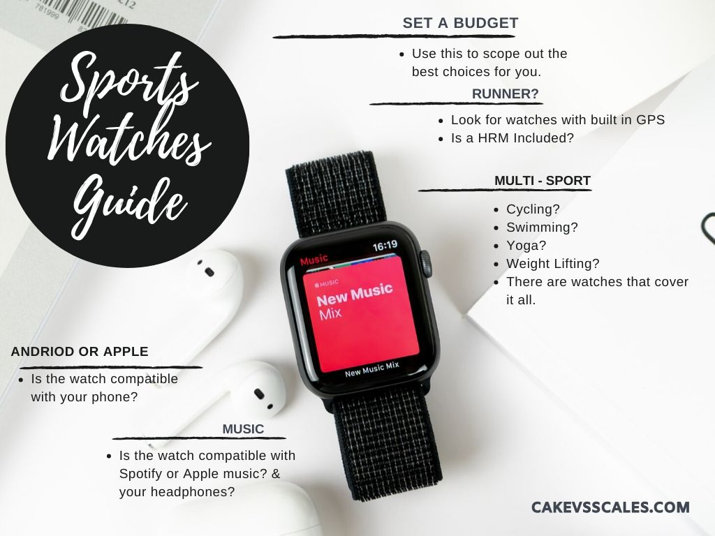 Choosing a smart or sports watch shouldn't be complicated, this easy guide will help.
