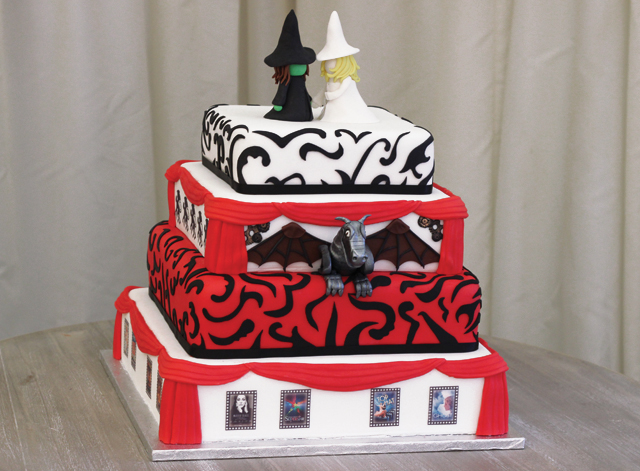 WickedTheatre Themed Wedding Cake Cakey Goodness